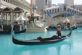 Gondola ride in Vegas