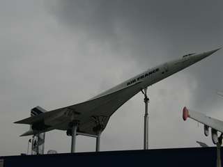 The Concorde up a pole